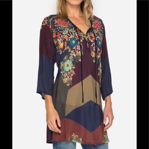 NWT Johnny Was Ludios Multi Patchwork tie Tunic